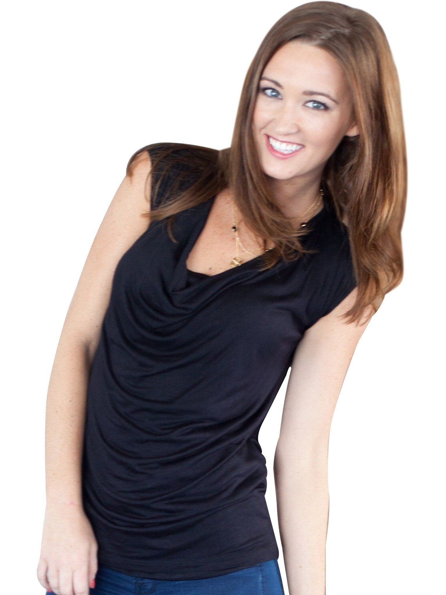 black nursing maternity tank