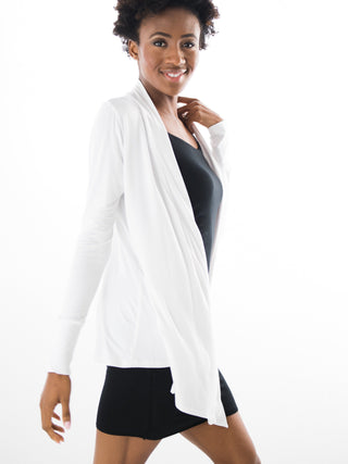 Kate Cascade 4-Way(and more) Cardigan- White