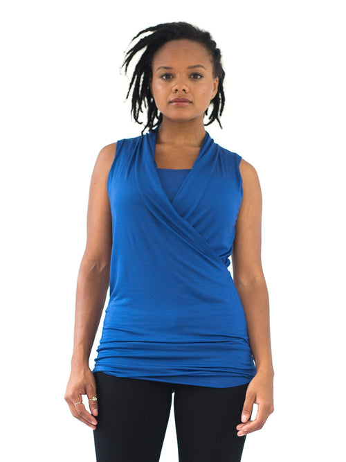 cobalt blue nursing maternity top