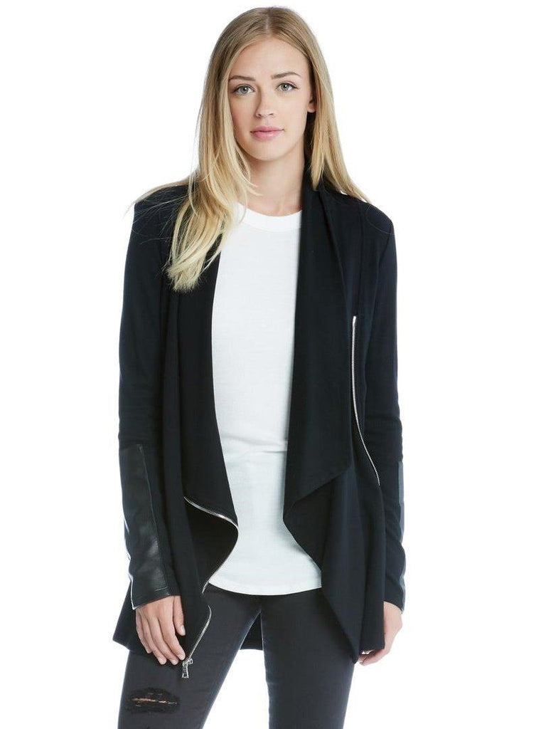 Lux Leather Patch Jacket