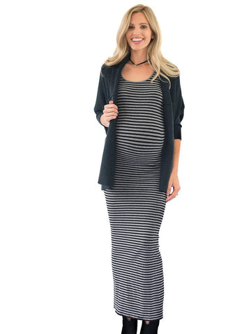 Microstripe Maxi Dresses Tees by Tina
