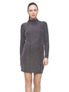 Lurex Dress- Silver/Black