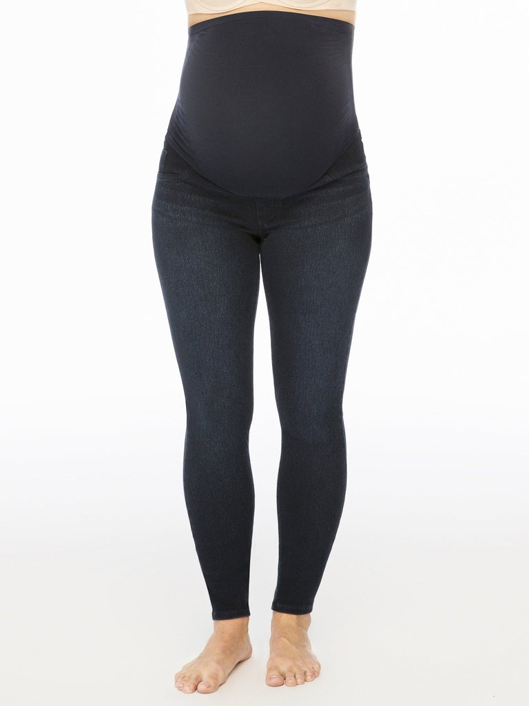 blue wash maternity skinny jeans