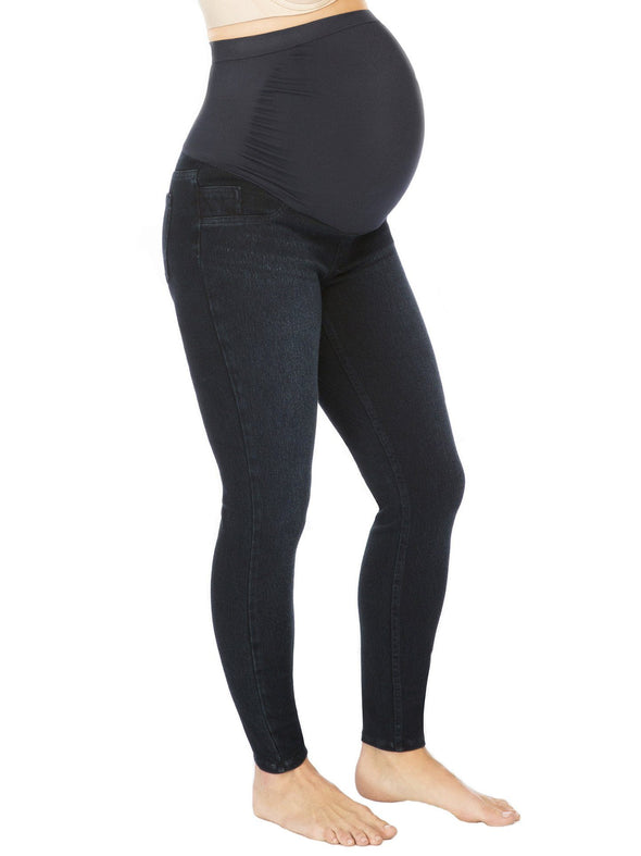 Mama Ankle Jean-ish Leggings- Twilight