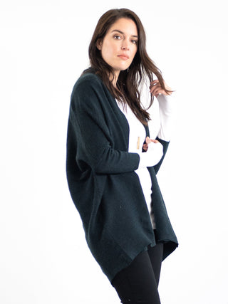 black navy long sleeve maternity cardigan