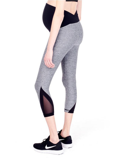 grey capri maternity leggings