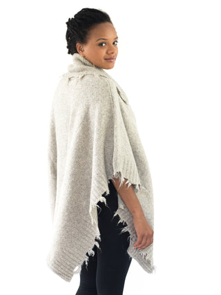 Moss Poncho- Light Stone