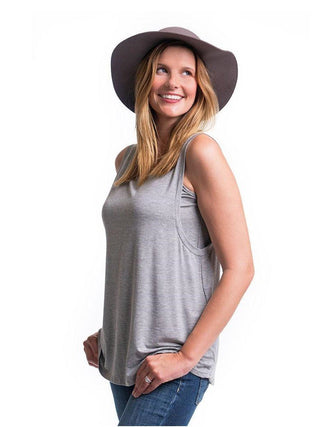 Nursing Muscle Tee- Heather Grey