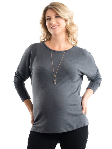 charcoal grey maternity sweater