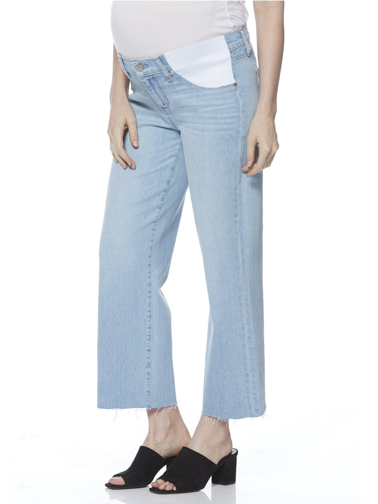 Paige wide leg maternity cropped jeans