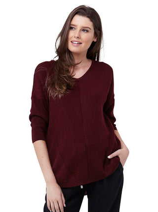 maroon maternity sweater top
