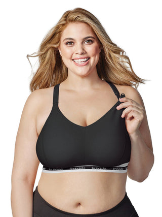black maternity nursing sleep bra