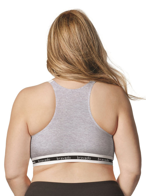grey maternity nursing sleep bra