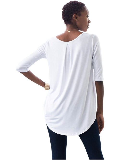 Penny Pleat Back-White