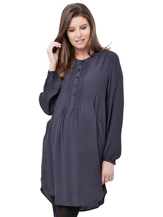 Robyn Pintuck Dress- Soot