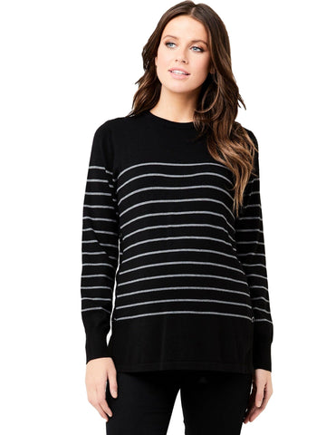 Soho Side Snap Sweater - Nursing Tops Ripe