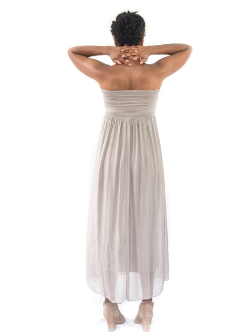 taupe maternity maxi dress skirt