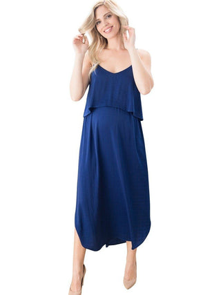 Slip Dress (Nursing)- Royal