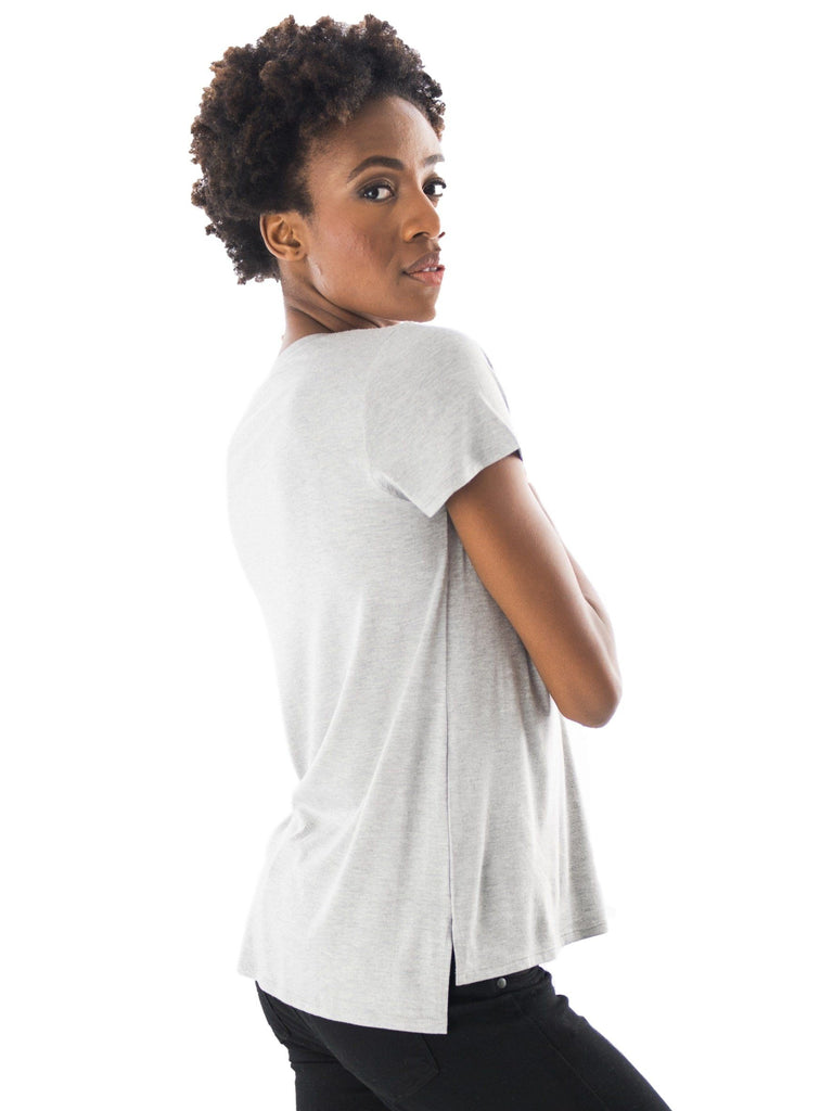 Tyler Pocket Tee softest maternity not maternity not fitted Tops alex & harry One Size Heather Grey
