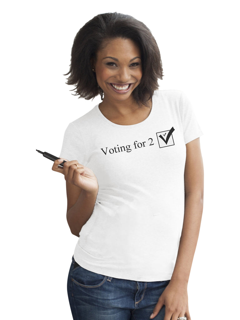 Voting for 2 Tee Tops Mom's the Word white One Size