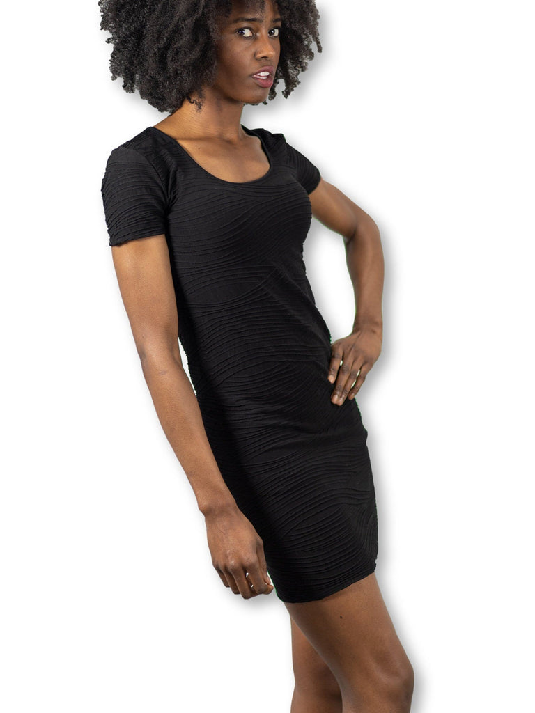 Black maternity shirt dress