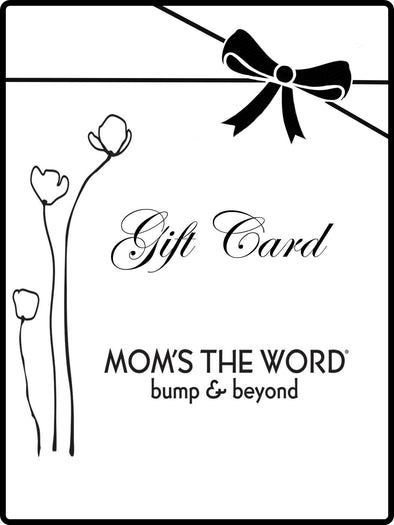 mom's the word gift card certificate