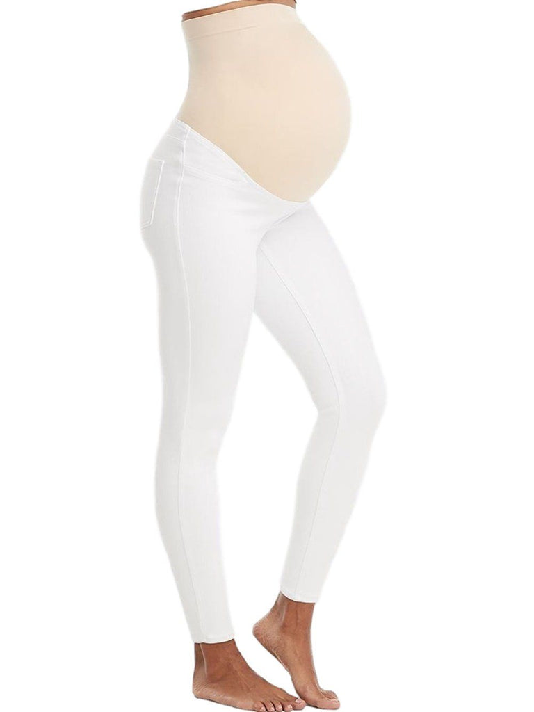 Mama Ankle Jean-ish Legging Bottoms Spanx XS White