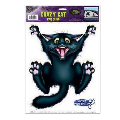 CAR CLING - CRAZY CAT                      EACH