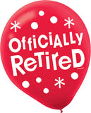 RETIREMENT LATEX BALLOONS