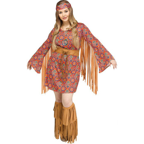 Groovy 60's Free Spirit - Adult Costume Plus Size