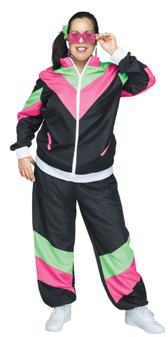 80'S ADULT TRACK SUIT PLUS SIZE