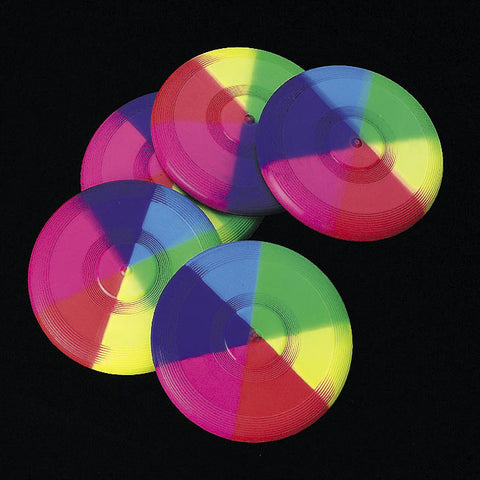 FLYING DISC - RAINBOW MINI            12 CT/PKG