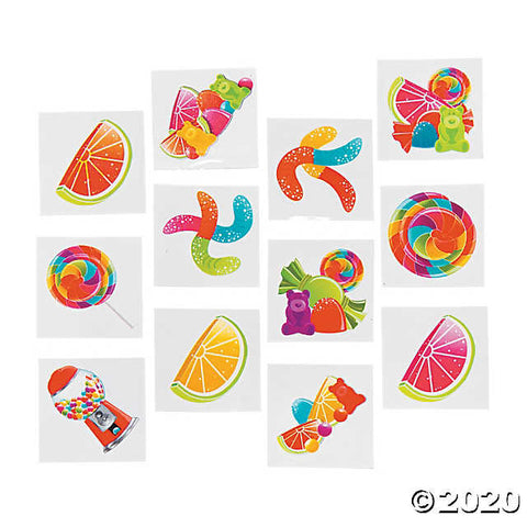 Candy and Fruit Temporary Tattoos