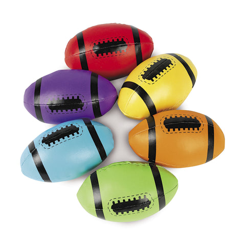 "VINYL FOAM FILL FOOTBALLS 4""   12PCS/PKG"