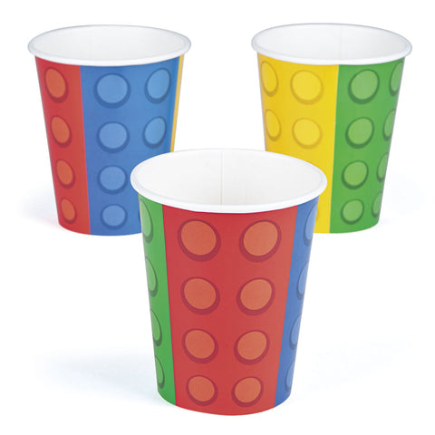 BLOCK PARTY CUPS 9oz        8PCS/PKG