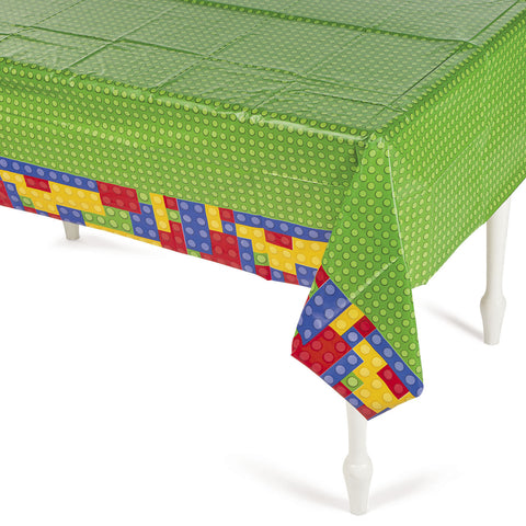 "BLOCK PARTY TABLECOVER 54"" X 108""   1PC/PKG"