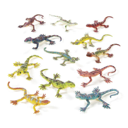 GLITTER LIZARDS 12PCS/PKG