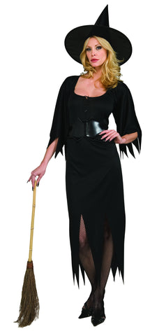 COSTUME - WITCH DRESS NYLON  ADULT