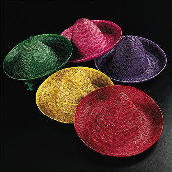 HAT - SOMBRERO CHILD ASSORTED COLORS     EACH