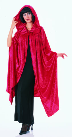 COSTUME - RED VELVET GOTHIC CLOAK 63""