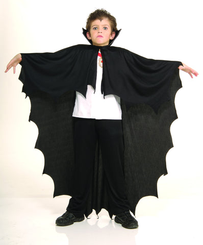 CAPE - VAMPIRE BLACK W/COLLAR            CHILD