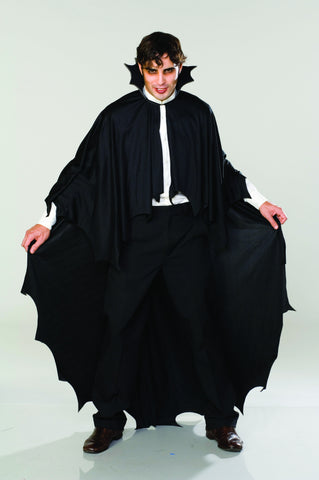 LONG BLACK VAMPIRE CAPE ADULT  ONE FITS FITS MOST