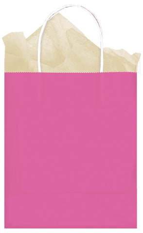BAG - BRIGHT PINK MEDIUM KRAFT EACH
