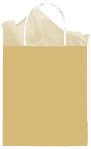 BAG - GOLD MEDIUM KRAFT EACH