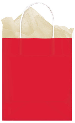 BAG - RED          MEDIUM SOLID KRAFT      EACH