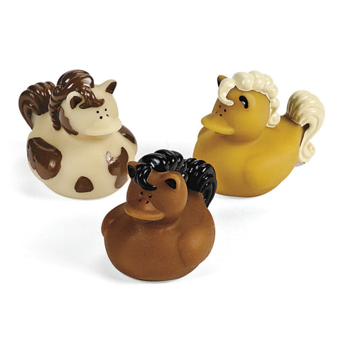 HORSE RUBBER DUCKIES 12PCS/PKG