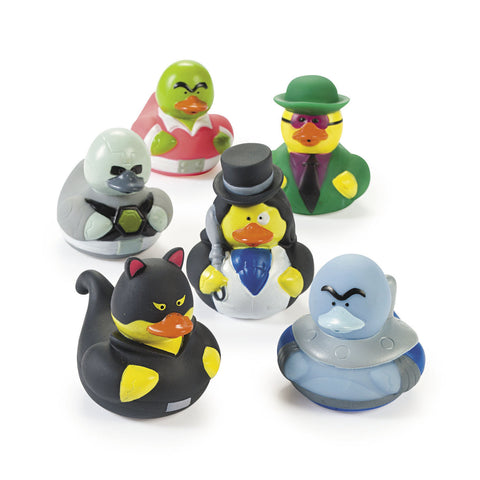 SUPER VILLIAN RUBBER DUCKS 12PCS/PKG