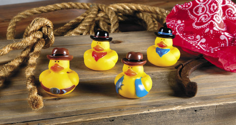 RUBBER DUCKS - COWBOY ASSTD STYLES    12 CT/PKG