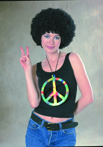 NECKLACE - PSYCHEDELIC PEACE SIGN