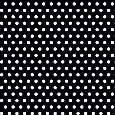 "BLACK POLKA DOT WRAPPING PAPER 16' X 30"" ROLL"